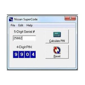 NISSAN  SUPER  CODE  CAR  ECU  SECURITY  PIN  NUMBER  CALCULATOR  GARAGE  TOOLS  KEY